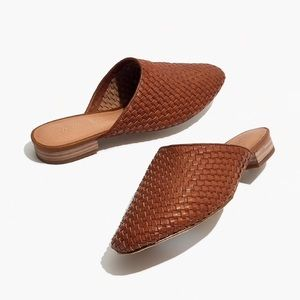 Madewell Cassidy Woven Brown Leather Mule sz 7.5